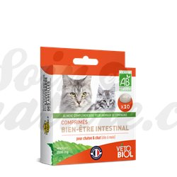 Vetobiol Intestinal Hygiene Tablets Purge Cat Kitten
