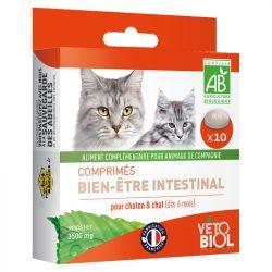Vetobiol, tabletas de higiene intestinal, purga, gato, gatito