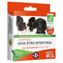 Vetobiol Comprimés Bien-être intestinal Purge Chiot Petit Chien