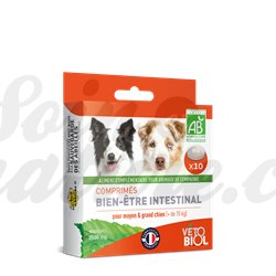 Vétobiol higiene intestinal del gusano Natural 9 Tabletas perro de perrito