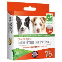 Vétobiol Higiene Intestinal Worm Natural 9 Tablets cão filhote de cachorro