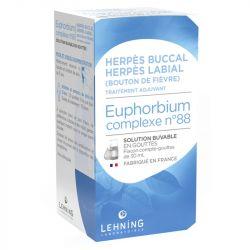 EUPHORBIUM L 88 Lehning omeopatico complesso varicella Herpes