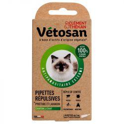 Vetosan pipette repulsive chat/chaton 2 pipettes 1ml