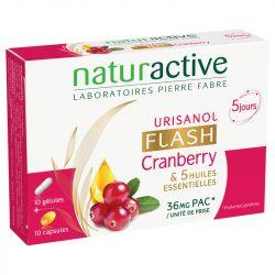 Urisanol Flash Cranberry 10 gélules + 10 capsules