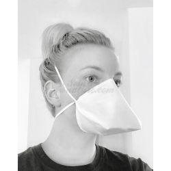 Máscara barrera de pico de pato en tela estándar AFNOR