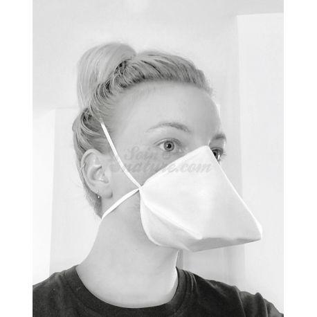 Masque barrière bec de cannard en tissu Norme AFNOR