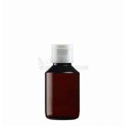 Soluzione idroalcolica ricondizionata in una bottiglia di farmacia
