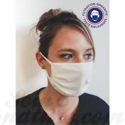 Masque barrière anti-projection en tissu réutilisable 100 fois Catégorie 1