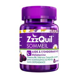 ZzzQuil Sommeil mélatonine et vitamine en 30 Gommes