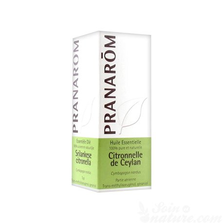 Pranarom huile essentielle Citronnelle de Ceylan 10ML Cymbopogon nardus