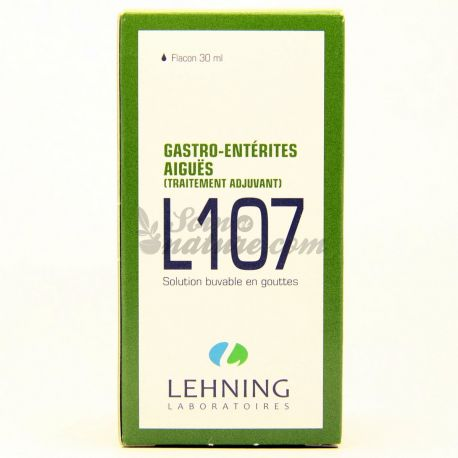 L107 GASTRO-ENTERITES AIGUES HOMEOPATHIE LEHNING 30ML