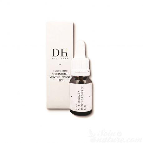 DELIHEMP 500mg CBD huile de Chanvre bio menthe poivrée