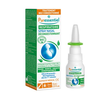 Puressentiel Hypertonic nasal spray with essential oils 15 ml / 30 ml