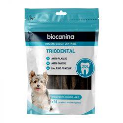 Biocanina Triodental Nettoyage des dents 15 Lamelles végétales pour chien