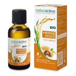 Aceite vegetal orgánico de almendras dulces dulces 50ml