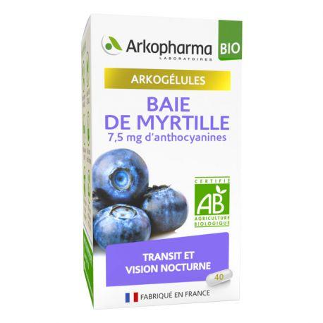 Arkogelules Baie de Myrtille bio 40 Gélules Arkopharma