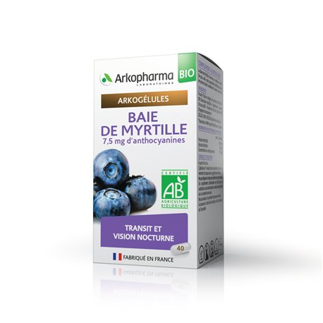 ARKOGELULES BAY BLUEBERRY 45 капсул Arkopharma