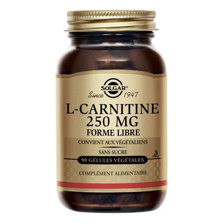 SOLGAR L-Carnitine Brûleurs de graisse 250 mg 90 gélules végétales