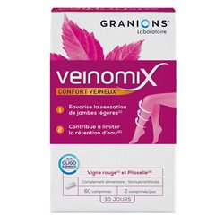 Granions VEINOMIX venosa RITENZIONE COMFORT / ACQUA 60 COMPRESSE