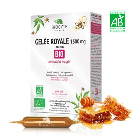 Biocyte Gelée royale + acérola Bio 20 ampoules