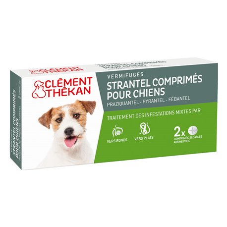 Desparasitación PERRO STRANTEL / perro XL CLEMENT THEKAN 2 TABLETAS