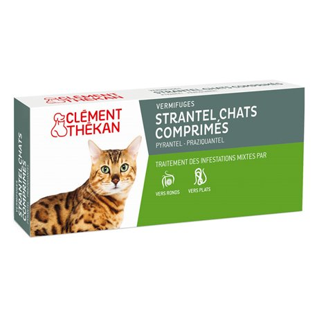 STRANTEL CHAT CHAT CLEMENT Thékan Wormer Tablets