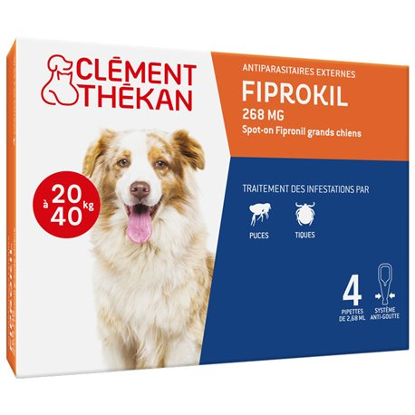 FIPROKIL КЛЕМАН THEKAN пятно на Big Dog 2,68 мл 4 ДОЗАТОРЫ