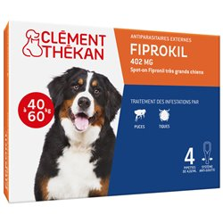 FIPROKIL TRES GRAND CHIEN CLEMENT THEKAN 4,02ML SPOTON 4 PIPETTES