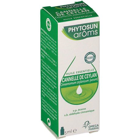 PHYTOSUN Arôms Ceylon Cinnamon corteza ESENCIAL ACEITE CINNAMOMUM ZEYLICUM 5 ml