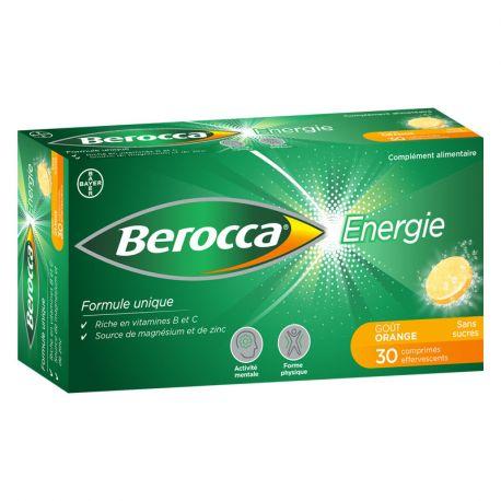 Berocca Energie Orange comprimidos efervescentes sem açúcar