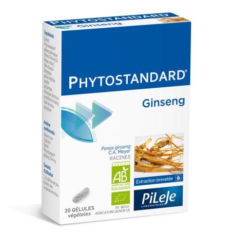 Phytostandard GINSENG BIO 20 Gélules Pileje