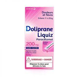 Doliprane LIQUIZ PARACETAMOL CHILD 200MG 12 BAG