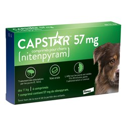 Capstar 57mg flea infestations in dogs 6 Tablets