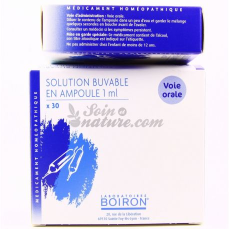 Complex homeopathic medicine in drinkable ampoules Boiron