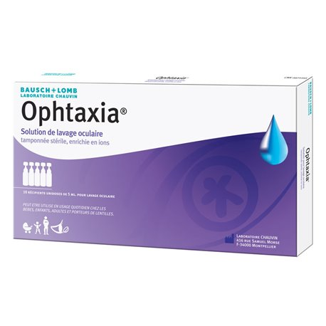 BAUSCH & LOMB OPHTAXIA Lavage Oculaire 10 Unidoses