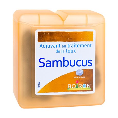 BOIRON SAMBUCUS RÉGLISSE PATES TOUX LARINGITES 70G