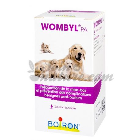 WOMBYL PA VETERINAIRE HOMEOPATHY FLES 30ml Boiron DROPS Drinkbaar