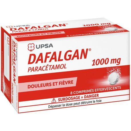 DAFALGAN 1G COMPRIMES EFFERVESCENTS 8
