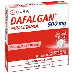 DAFALGAN 500MG COMPRIMES EFFERVESCENTS SECABLE