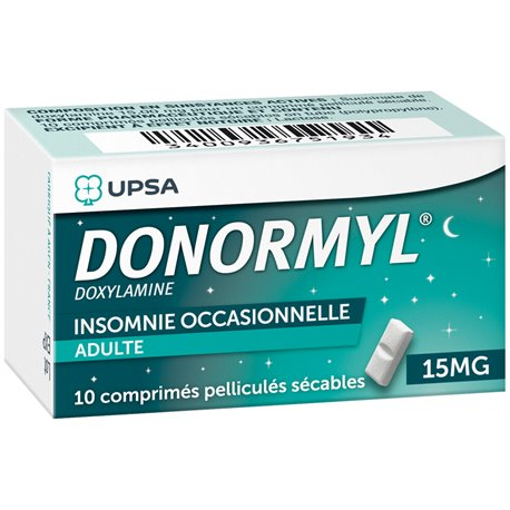 DONORMYL 15MG COMPRIMES SECABLES 10