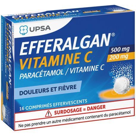 EFFERALGANVITAMINEC COMPRIMES EFFERVESCENTS 16