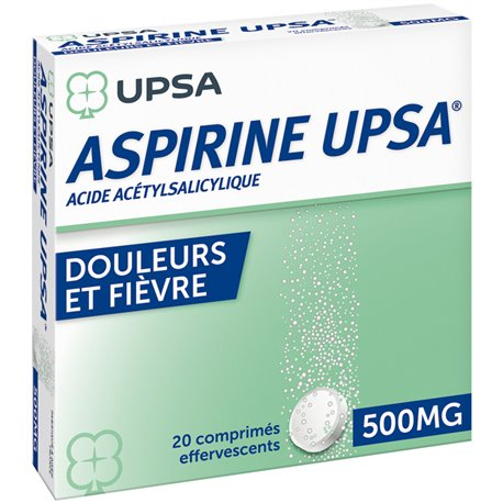 ASPIRINE 500MG UPSA COMPRIMES EFFERVESCENTS 20