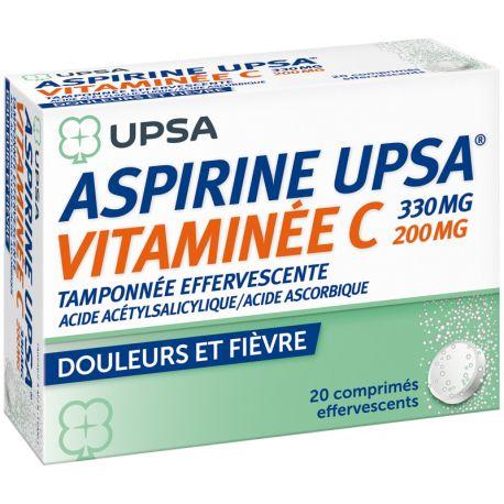 ASPIRINE VIT C UPSA COMPRIMES EFFERVESCENTS 20