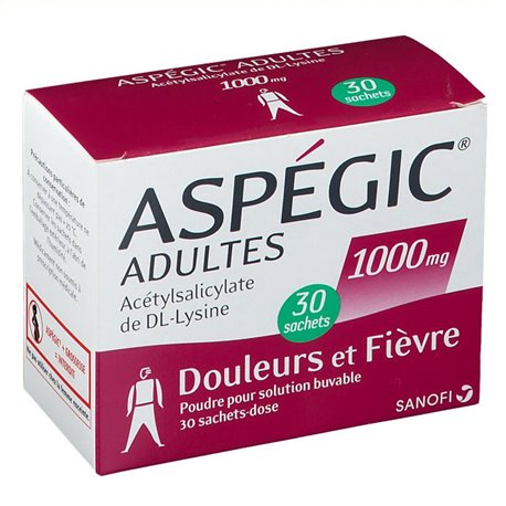 ASPEGIC 1 000MG ADULTE SACHETS 30
