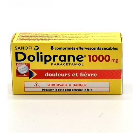 DOLIPRANE 1 000MG COMRIMES EFFERVESCENTS