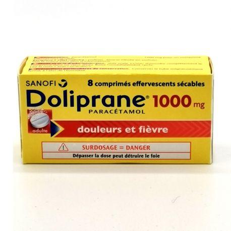 DOLIPRANE 1 000MG COMRIMES EFFERVESCENTS