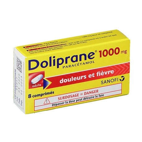 DOLIPRANE 1 000MG COMPRIMES 8