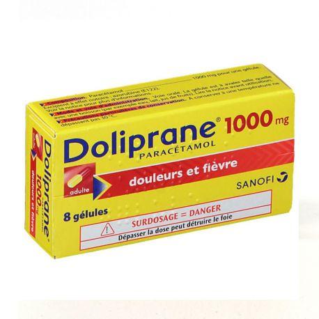 DOLIPRANE 1 000MG GELULES 8