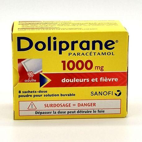DOLIPRANE 1 000MG SACHETS 8