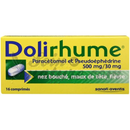 DOLIRHUME COMPRIMES 16